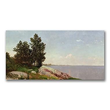 Trademark Fine Art John Kensett 'Long Island Sound at Darien' Canvas Art 16x32 Inches