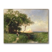 Trademark Fine Art Thomas Moran 'The Coast of Florida 1882' Canvas Art