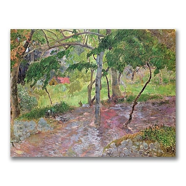 Trademark Fine Art Paul Gauguin 'Tropical Landscape Martinique' Canvas Art 24x32 Inches