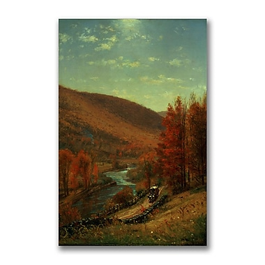 Trademark Fine Art Thomas Whittredge 'A Road Through Belvedere' Canvas Art 22x32 Inches