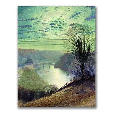 Trademark Fine Art John Grimshaw 'On the Tees, Near Barnard Castle' Canvas Art