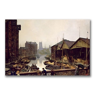 Trademark Fine Art John Grimshaw 'Leeds Bridge, 1880' Canvas Art 22x32 Inches