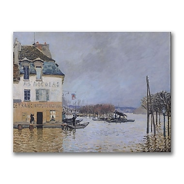 Trademark Fine Art Alfred Sisley 'The Flood at Port Marly' Canvas Art