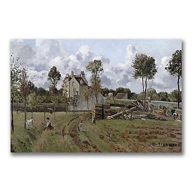 Trademark Fine Art Camille Pissaro 'Pontoise Landscape' Canvas Art