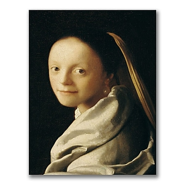 Trademark Fine Art Jan Vermeer 'Portrait of a Young Woman' Canvas Art