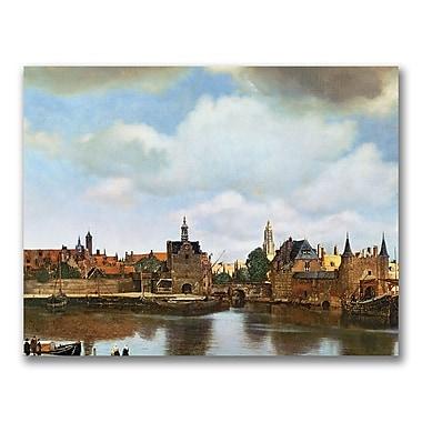 Trademark Fine Art Jan Vermeer 'View of Delft 1660-61' Canvas Art