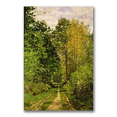 Trademark Fine Art Claude Monet 'Wooded Path 1865' Canvas Art