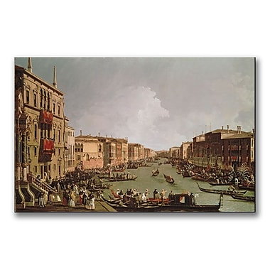 Trademark Fine Art Canatello 'A Regatta on the Grand Canal' Canvas Art 18x32 Inches