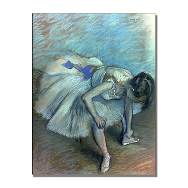 Trademark Fine Art Edgar Degas 'Seated Dancer' Canvas Art