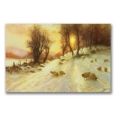 Trademark Fine Art Joseph Farquharson 'Sheep in the Winter' Canvas Art