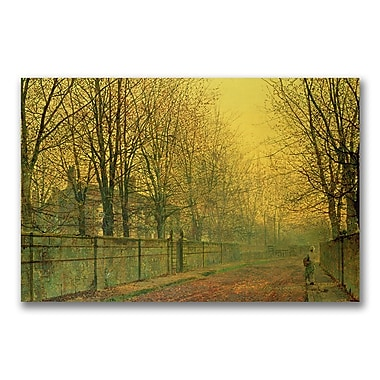 Trademark Fine Art John Grimshaw 'In the Golden Glow of Autumn' Canvas Art 16x24 Inches