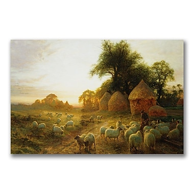 Trademark Fine Art John Faraquharson 'Yon Yellow Sunset' Canvas Art 22x32 Inches