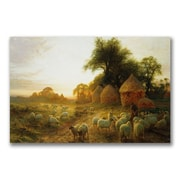 Trademark Fine Art John Faraquharson 'Yon Yellow Sunset' Canvas Art 16x24 Inches