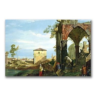 Trademark Fine Art Canatello 'Capriccio with Motifs from Padua' Canvas Art