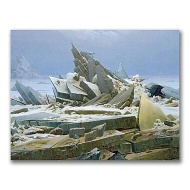 Trademark Fine Art Caspar David Friedrich 'The Polar Sea' Canvas Art