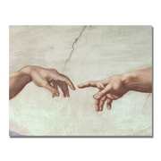 Trademark Fine Art Michelangelo 'Hands of God' Canvas Art