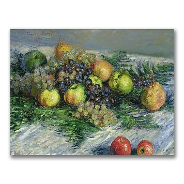 Trademark Fine Art Claude Monet 'Still Life with Pears and Grapes' Canvas Art