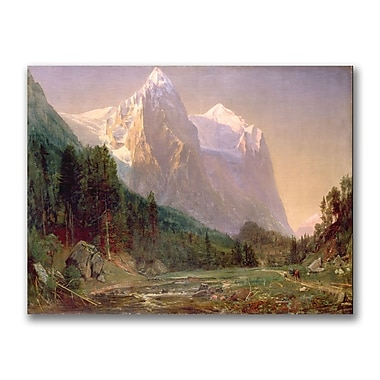 Trademark Fine Art Thomas Whittredge 'Sunrise on the Wetterhorn 1858' Canvas 18x24 Inches