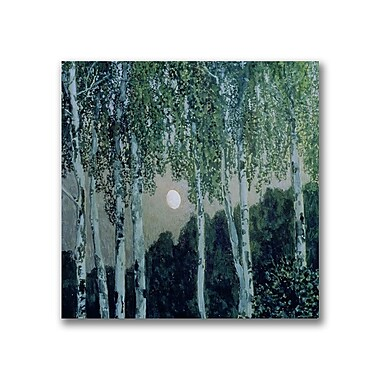 Trademark Fine Art Aleksandr Golovin 'Birch Trees' Canvas Art