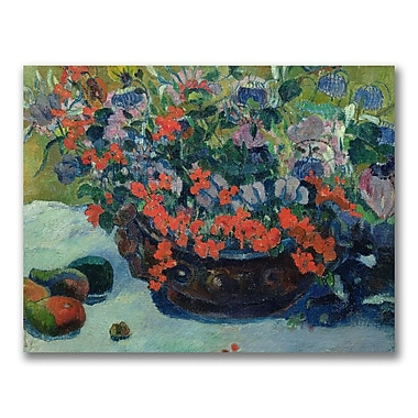 Trademark Fine Art Paul Gauguin 'Bouquet of Flowers 1897' Canvas Art 24x32 Inches