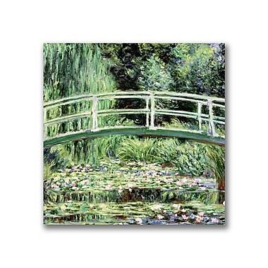 Trademark Fine Art Claude Monet 'White Waterlillies 1889' Canvas Art
