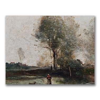Trademark Fine Art Jean Baptiste Corot 'Morning in the Field' Canvas