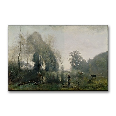 Trademark Fine Art Jean Baptiste Corot 'Morning at Ville-d Avray' Canvas 22x32 Inches