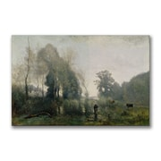 Trademark Fine Art Jean Baptiste Corot 'Morning at Ville-d Avray' Canvas 16x24 Inches