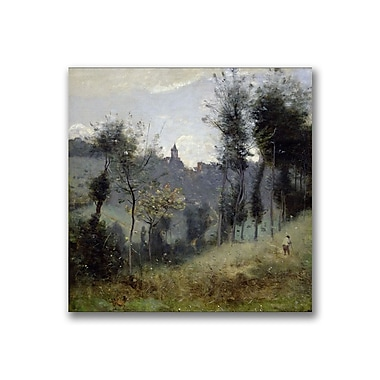 Trademark Fine Art Jean Baptiste Corot 'Canteleu near Rouen' Canvas 14x14 Inches