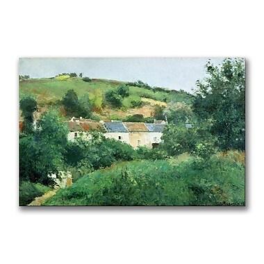 Trademark Fine Art Camille Pissaro 'The Path in the Village' Canvas Art