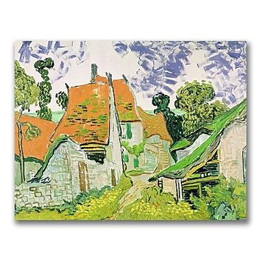 Trademark Fine Art Vincent Van Gogh 'Street in Auvers-sur-Oise' Canvas Art