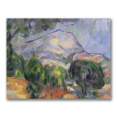 Trademark Fine Art Paul Cezanne 'Montagne Sainte-Victoire II' Canvas Art 24x32 Inches