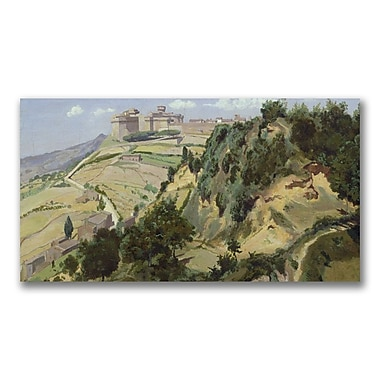 Trademark Fine Art Jean Baptiste Corot 'Volterra 1834' Canvas 12x24 Inches