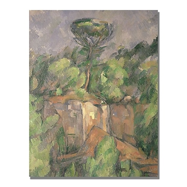 Trademark Fine Art Paul Cezanne 'Bibemus Quarry' Canvas Art 24x32 Inches