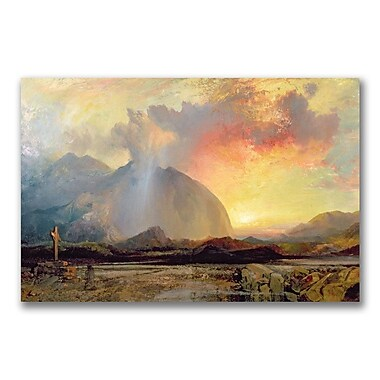 Trademark Fine Art Thomas Moran 'Sunset Vespars at the Rugged Cross' Canvas Art