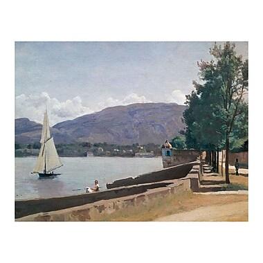 Trademark Fine Art Jean Baptiste Corot 'The Quai des Paquis' Canvas