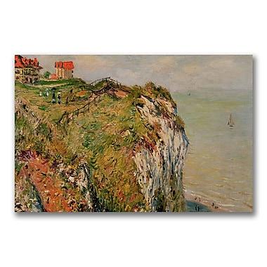 Trademark Fine Art Claude Monet 'Cliff at Dieppe 1882' Canvas Art
