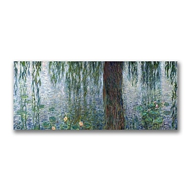 Trademark Fine Art Claude Monet 'Waterlillies Morning' Canvas Art 14x32 Inches