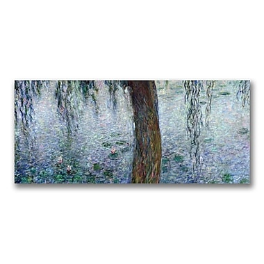 Trademark Fine Art Claude Monet 'Waterlillies Morning III' Canvas Art 14x32 Inches
