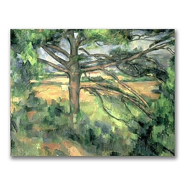 Trademark Fine Art Paul Cezanne 'The Large Pine' Canvas Art 35x47 Inches