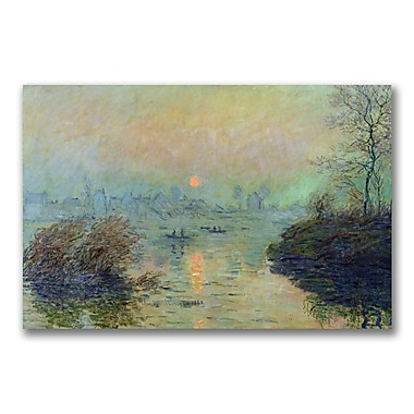 Trademark Fine Art Claude Monet 'Sun Setting over the Seine' Canvas Art 16x24 Inches