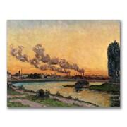 Trademark Fine Art Jean Baptiste Guillamin 'Setting sun at Ivry' Canvas