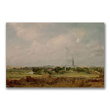 Trademark Fine Art John Constable 'View of Salisbury' Canvas Art 22x32 Inches