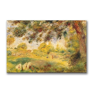 Trademark Fine Art Pierre Renoir 'Spring Landscape' Canvas Art 30x47 Inches