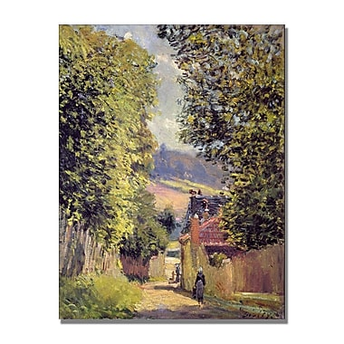 Trademark Fine Art Alfred Sisley 'A Road to Louveciennes1883' Canvas Art