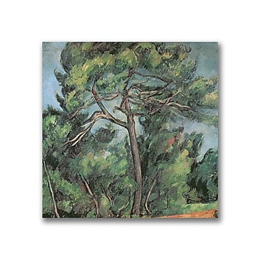 Trademark Fine Art Paul Cezanne 'The Large Pine' Canvas Art 24x24 Inches