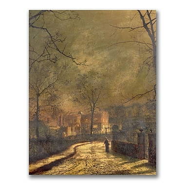 Trademark Fine Art John Atkinson 'Autumn Scene 1874' Canvas Art
