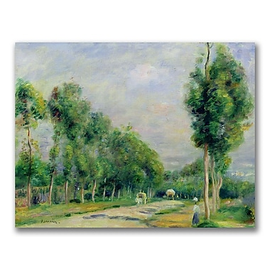 Trademark Fine Art Pierre Renoir 'The Road to Versailles' Canvas Art 24x32 Inches