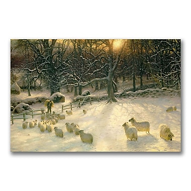 Trademark Fine Art Joseph Farquharson 'The Shortening Winter's Day' Canvas Art 30x47 Inches