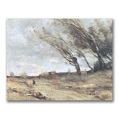 Trademark Fine Art Jean Baptiste Corot 'The Gust of Wind' Canvas.